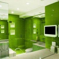 зелена ванна кімната фото 12