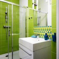 зелена ванна кімната фото 42