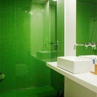зелена ванна кімната фото 16
