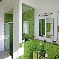 зелена ванна кімната фото 47