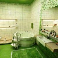 зелена ванна кімната фото 4