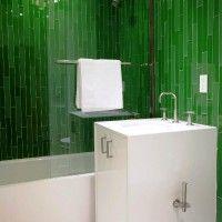 зелена ванна кімната фото 6