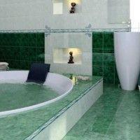 зелена ванна кімната фото 11