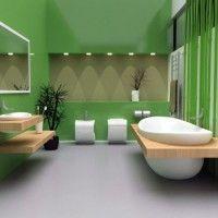 зелена ванна кімната фото 13