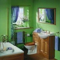 зелена ванна кімната фото 3