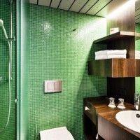 зелена ванна кімната фото 37