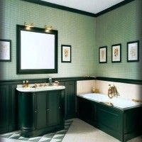 зелена ванна кімната фото 8