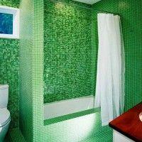 зелена ванна кімната фото 18