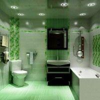зелена ванна кімната фото 54