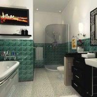 зелена ванна кімната фото 38