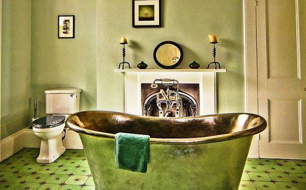 ванна кімната в зеленому кольорі фото