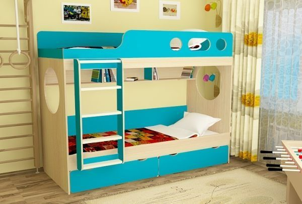 двох`ярусна ліжко для дітей фото