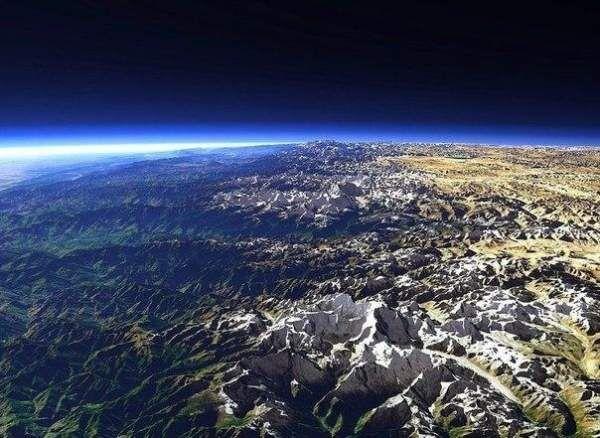 Гімалаї, вид з космосу
