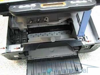 Індикація помилки є4 у принтера canon mp140.