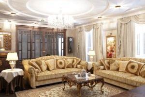 Як підкреслити розкіш домашнього інтер`єру: прості ідеї для декору вітальні в класичному стилі