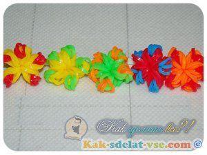 Як зробити квітку з гумок на верстаті?