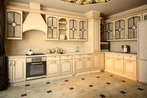 Красиві інтер`єри кухонь в бежево-коричневих тонах (+40 фото)