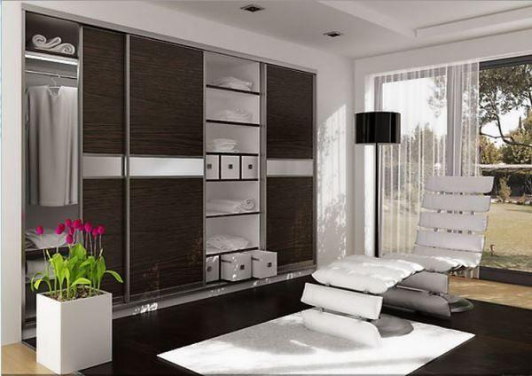 меблі для вітальні в сучасному стилі фото шафа купе