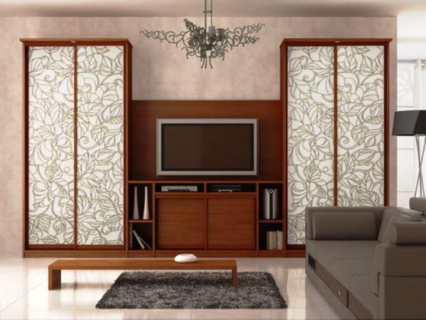 меблі для вітальні в сучасному стилі з шафою купе фото