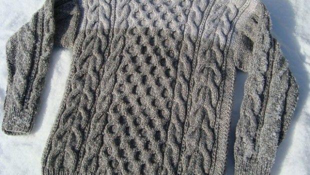 Чоловік светр спицями