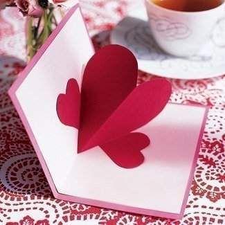 Об`ємна листівка для коханої людини?