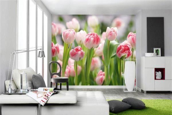 фотошпалери 3д для стін каталог фото квіти 2