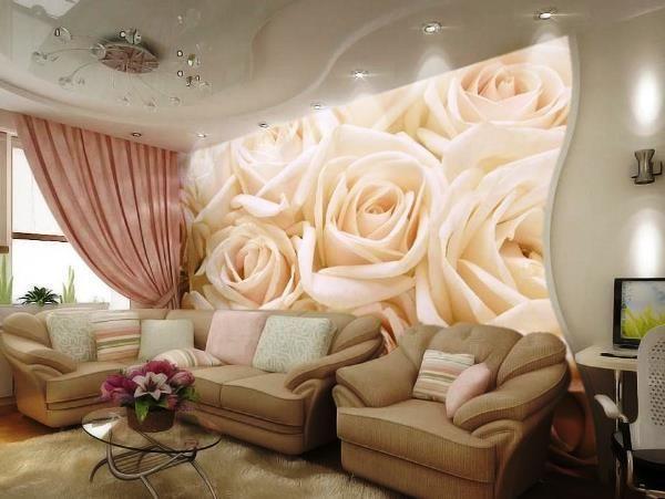 фотошпалери 3д для стін каталог фото троянди
