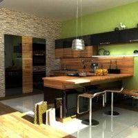 колір шпалер для кухні фото 31