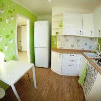 колір шпалер для кухні фото 30