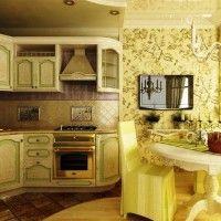 колір шпалер для кухні фото