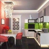 колір шпалер для кухні фото 12