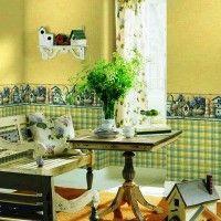 колір шпалер для кухні фото 40