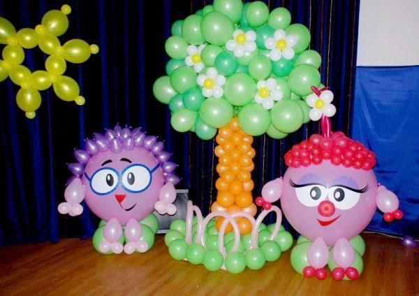 прикраса кулями на день народження фото