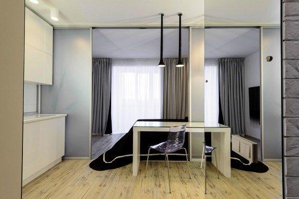 дизайн інтер`єру однокімнатної квартири студії фото 4