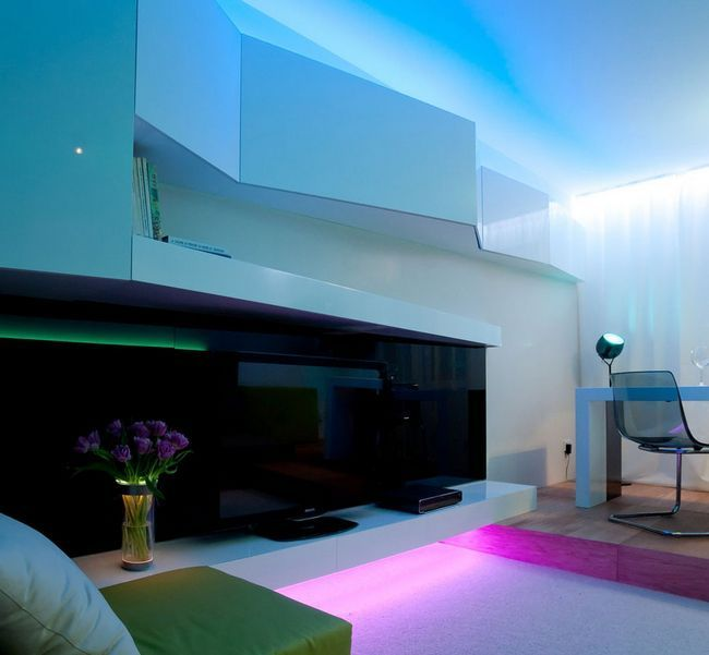 Освітлення в однокімнатній квартирі
