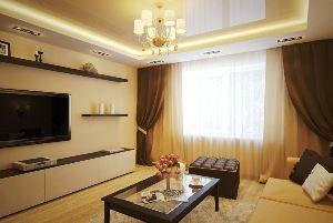 Пастельна гамма в інтер`єрі вітальні: оформляємо кімнату в бежевих тонах (+70 фото)