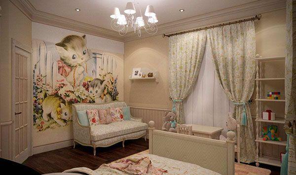 Дитяча кімната в стилі прованс або шеббі-шик: основні поради щодо оформлення