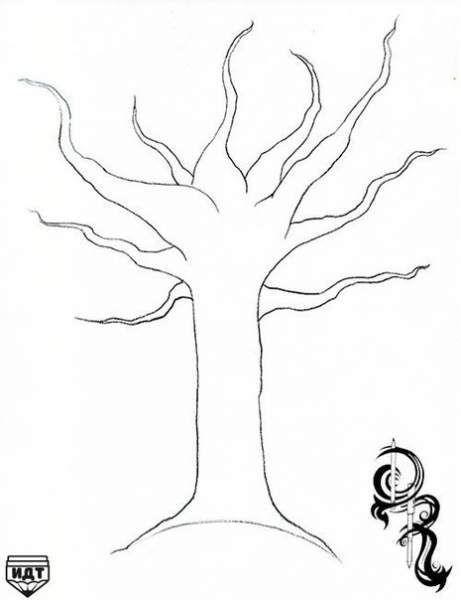 Поетапно малюємо дерево.