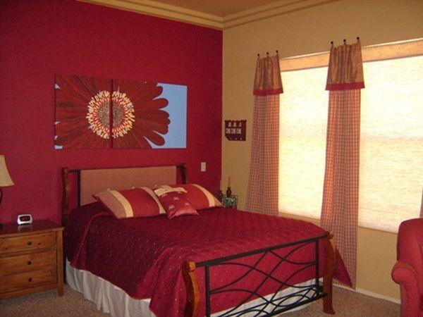 як красиво наклеїти шпалери в спальні двох кольорів фото 8