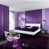 дизайн спальні з шпалерами двох кольорів фото 45