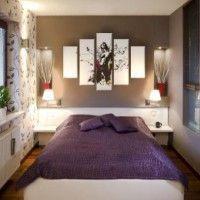 дизайн спальні з шпалерами двох кольорів фото 21