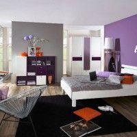 дизайн спальні з шпалерами двох кольорів фото 26