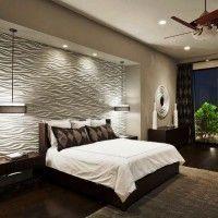 дизайн спальні з шпалерами двох кольорів фото 10