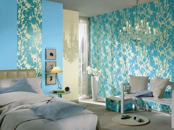 як підібрати шпалери в спальню двох кольорів фото