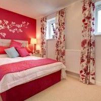 дизайн спальні з шпалерами двох кольорів фото 15