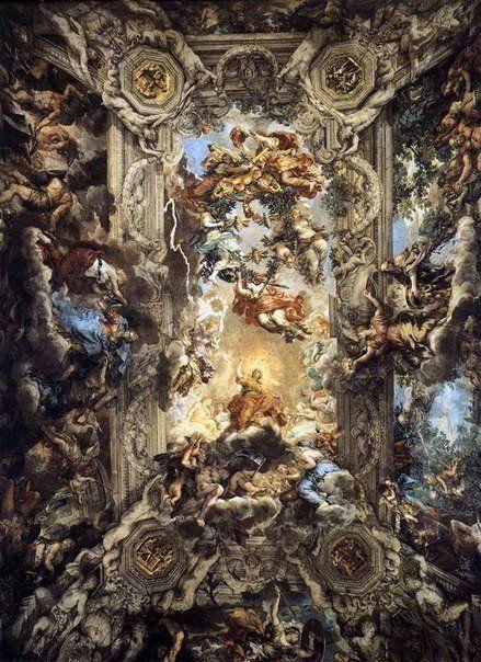 Стельові фрески соборів епохи бароко.