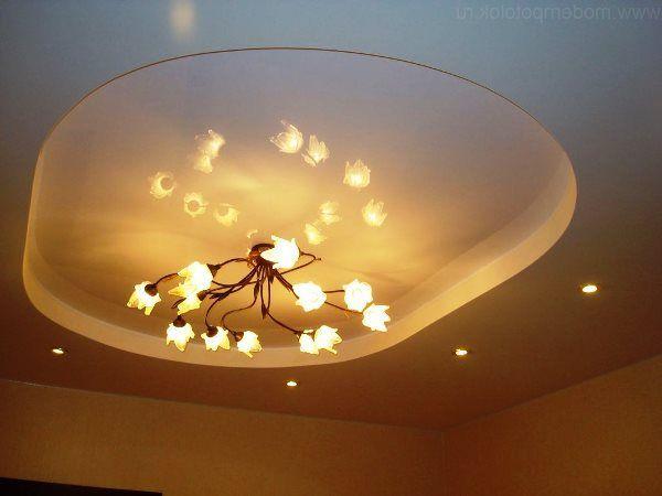 світильники та люстри для натяжних стель фото