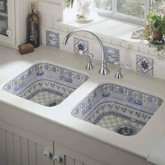 Шикарні, викладені мозаїкою, кухонні раковини