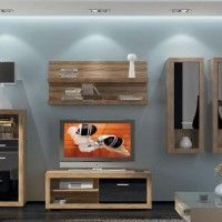 стінка у вітальні модульна в сучасному стилі фото 19