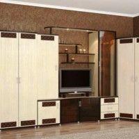 стінка у вітальні модульна в сучасному стилі фото 16